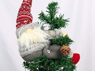 Christmas Tree Topper Gnome   Hand Made Gnome Christmas Decoration  Funny Christmas Tree Topper  Also be Used as Curtain Tie  Unique Christmas Gnome Decoration