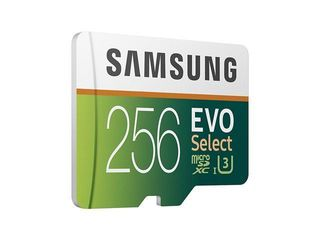 Samsung 256GB 100MB s  U3  MicroSDXC EVO Select Memory Card with Adapter  MB ME256GA AM