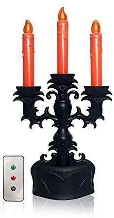 Ideal lights Halloween 3 Candles Candelabra Candlestick with IR Remote Controller