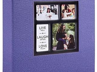 Photo Album 4x6 600 Pockets Photos Alegator Cover  Extra large Capacity Family Wedding Picture Albums Holds 800 Horizontal and Vertical Photos Purple