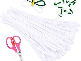 100 PCS Pipe Cleaners  White Chenille Stems Creative Craft Pipe Cleaners for Crafts Decorations  Boutiques  Sewing  Weddings  Home