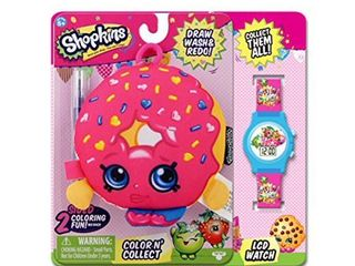 MSI Entertainment Shopkins Hook Plush and lCD Watch Bundle  D lish Donut
