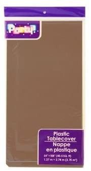 Disposable DARK BROWN   CHOCOlATE Plastic Tablecloths   Table Covers  6 pack