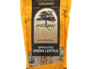 TruRoots   Organic Sprouted Green lentils 10 00 oz   exp 4 29 21