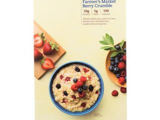 FARMER S MARKET BERRY CRUMBlE PROTEIN   FIBER HOT OATMEAl  FARMER S MARKET BERRY CRUMBlE  exp 1 28 21