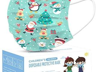 Christmas Kids Disposable Face Mask  50pcs 3 layers Disposable for Children Protection Safety Face Masks