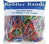 BAZIC Assorted Dimensions 227g 0 5 lbs  Rubber Bands  Multi Color  465 48P