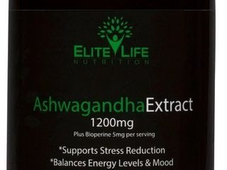Pure Ashwagandha Extract 1200mg   With Bioperine 5mg