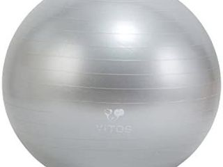 Anti Burst Exercise Yoga Ball   Extra Thick Non Slip Supports 2200lB for Fitness Stability Birth Balance Pilates Workout Guide Quick Pump Included Professional Quality Design   29 5    75 cm
