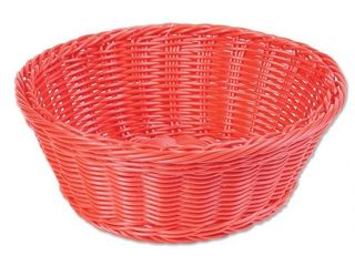 Round Washable Plastic Basket a Red