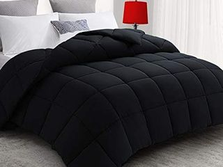 All Season Twin Xl Down Alternative Quilted Comforter Ultra Soft Duvet Insert with Corner Tabs   lightweight Warm   Fluffy   Plush Microfiber Fill   Machine Washablei1 4Black 68x 90 inches