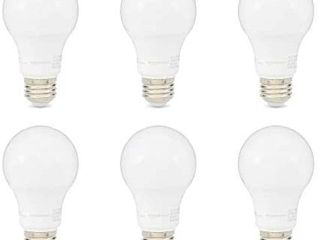 Amazon Basics 60w Equivalent Daylight Dimmable A19 led light Bulb 6 Pack