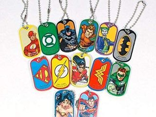 5 Blind Bag DC Comic DOG TAGS Neca Gift Party Favor Superman Batman Wonder Woman  12 bags in set