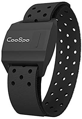 CooSpo Bluetooth   ANT  Heart Rate Monitor Armband Optical HRM Sensor Waterproof IPX7 Fitness Tracker Armband Compatible with Zwift  Wahoo Fitness  Endomondo  Peloton