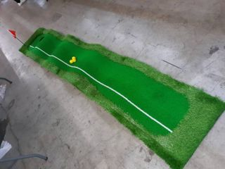 Abco Tech Golf Putting Green Mat   Portable Synthetic Turf Mat   Outdoor and Indoor   for Practicing and Training   long lasting Design   Includes 3 Free Golf Balls Retail price  79 99