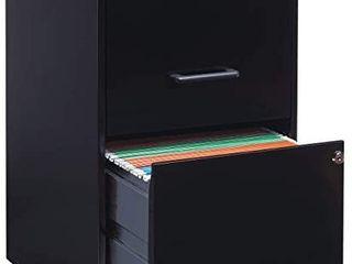 Amazon Black 2 Drawer Metal Cabinet
