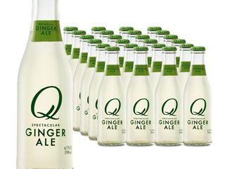 24 Bottles  Q Ginger Ale  6 7 Fl Oz  Retails 56 99