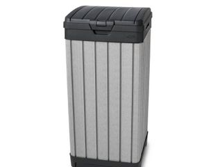 Keter Rockford Duotech Outdoor Trashcan  Gray RETAIl PRICE 78