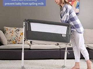 Ronbei Bedside Sleeper  Bassinet  Dark Grey  Retails 199 99