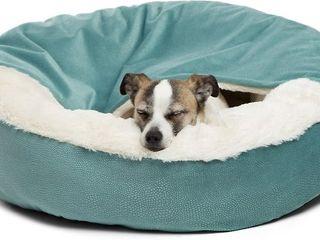 Best Friends by Sheri Cozy Cuddler Covered Cat   Dog Bed  Tide Pool  Standard