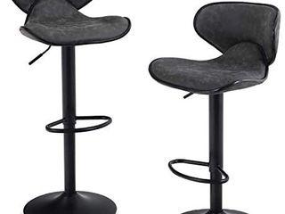 Maison Counter Height Bar stools set of 2 swivel Adjustable barstools  Grey  Retails 169 99