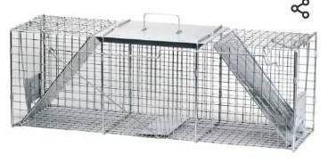 Havahart 1045 live Animal Two Door Raccoon  Stray Cat  Opossum  and Groundhog Cage Trap  RETAIl PRICE 77 99 ok