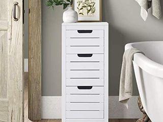 ChooChoo Bathroom Floor Cabinet  White Storage Cabinet with 3 Drawers  White Retail Price  69 99