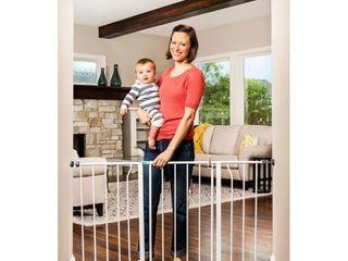 Regalo Extra Wide Easy Open Metal Walk Through Baby Gate  Retails 39 99