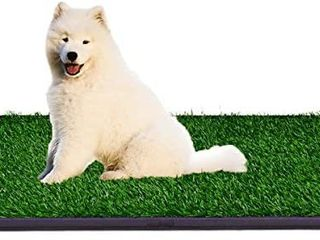 Indoor Dog Potty Grass Pad   Puppy Potty Training Artificial Grass Mats Dog Fake Grass Pee Pad with Tray Reusable 3 layered Dog Potty Trainer Easy to Clean retail price  33 99