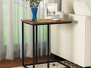 MISSING SCREWS And ROllING CASTERS  Yusong Side Table  Medal Frame  Rustic Brown  Retails 39 99