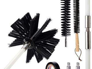 Dryer Vent Cleaner Brush Kit  Flexible chimney Cleaning Brush Kit  30ft  Retails 35 99