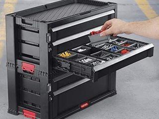 Keter 23  Modular Roller Cabinet 5 Drawers Tool Trolley   Black red Retail price  98 71