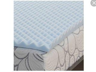 Salt 1 5  Memory Foam Full Mattress Topper Blue  RETAIl PRICE 51 98