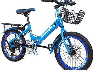 hosote Folding Kids Bike Boys Girls BMX Bicycle  18 20 inch 7 Speed Double Disc Brake Child s Bike for 6 15 Years  US Stock  Retail price  169 90