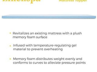 NENSPA 3 Inch Gel Infused Memory Foam Mattress Topper  Full Xl retail price  64 07