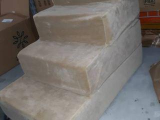 Zinus 4 Step Comfort Cat   Dog Stairs  Cream  large Retail Price  49 99