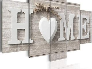 love Sanctuary large Canvas Print White Home Sweet Heart Modern Picture Wall Art Decor Painting 40x20 RETAIl PRICE 19 99