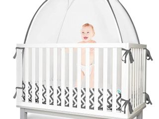 KinderSense   Baby Safety Crib Tent   Premium Toddler Crib Topper to Keep Baby from Climbing Out   See Through Mesh Crib Net   Mosquito Net   Pop Up Crib Tent Canopy to Keep Infant in  RETAIl PRICE 105