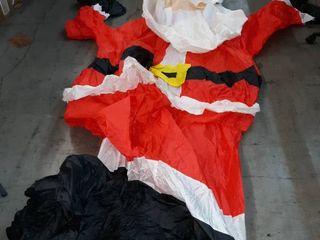 A Christmas Santa Claus Inflatable