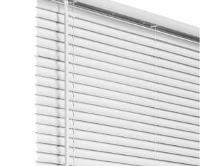 Chicology White Cordless Room Darkening 1 in  Vinyl Mini Blind   29 in  W x 36 in  l  White  Commercial Grade