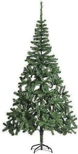 Christmas Tree 6ft Artificial  500 PVC Branch Tips with Sturdy Base  Easy to Assemble  Best for Holiday Decorations  Green   RETAIl PRICE 25 99