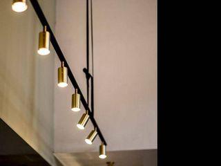 Nordic light luxury brass copper track spotlights lED ceiling lamp  retail price  93
