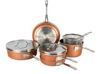 MISSING 4 lIDS  Gotham Steel Stack Master 10 Pc  Cookware Set  Retails 199 99