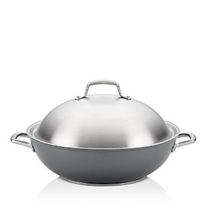Anolon Accolade Forged Hard Anodized Precision Forge 13 5  Covered Wok  Retails 129 99