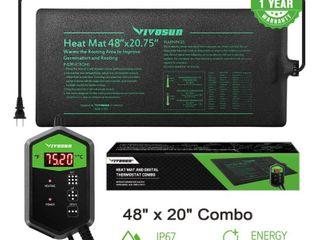 VIVOSUN Seedling Heat Mat Digital Thermostat Combo 48 X20 75  Retail price  64 99