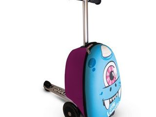 Zinc Flyte Kids luggage Scooter 15  Carry on   Sid the Cyclops  Blue RETAIl PRICE 79 99