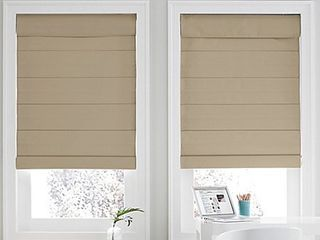 REAl SIMPlE CORDlESS ROMAN CEllUlAR 27 INCH X 72 INCH SHADE IN KHAKI  Comes in a set of 2  Retails 69 99