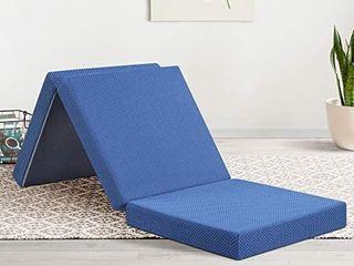 Olee Sleep Tri Folding Memory Foam Topper  4  H  Blue Retail price 75