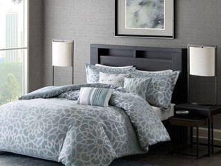 Home Essence Carmela Jacquard Duvet Cover Bedding Set  Retails 90 99