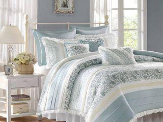 Home Essence Stella 9 Piece Duvet Cover Bedding Set  Retails 152